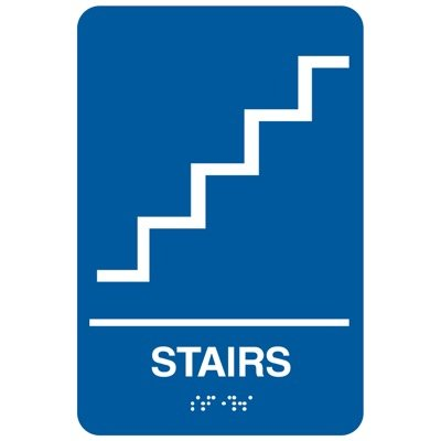 Stairs - Economy Braille Signs