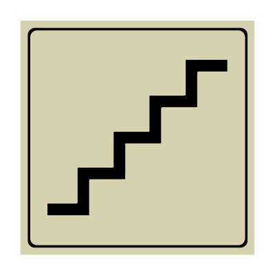 Stairs Symbol - Engraved Graphic Symbol Signs