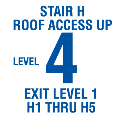 Custom Stairwell Safety Sign