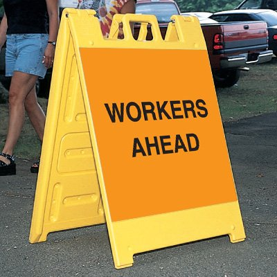 Standard A-Frame Workers Ahead Signs
