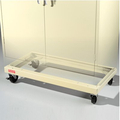 """Cabinet Caster Kit for 24""""-deep Tennsco Storage Cabinets"""