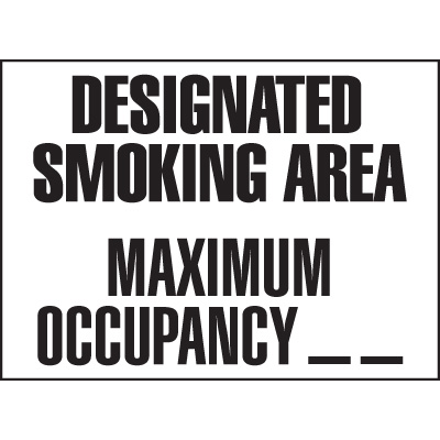 Maine - Designated Smoking Area
