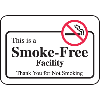 Nevada Smoke-Free Signs- This Is A Smoke-Free Facility