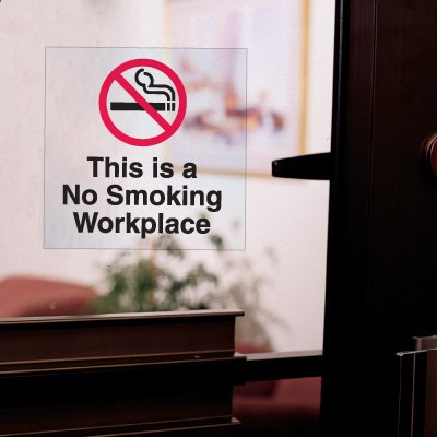 Static Cling No Smoking Decals- This Is A No Smoking Workplace