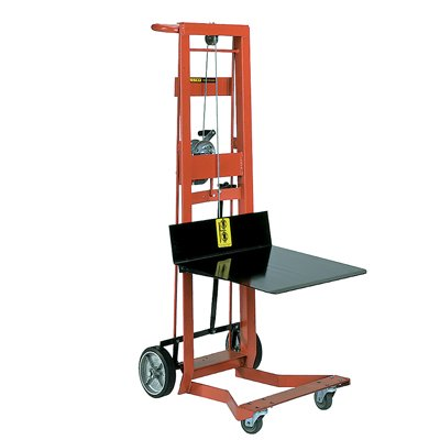 Steel Frame Two-Wheeled Winch Pedalift with Platform