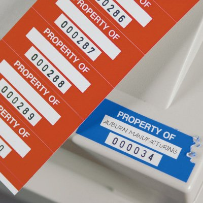 Stock Destructible Asset ID Labels