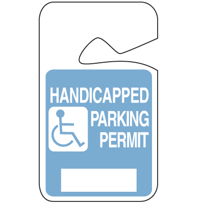 Stock Handicapped Parking Permits