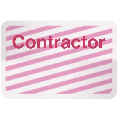Stock TIMEbadge® - Contractor Adhesive