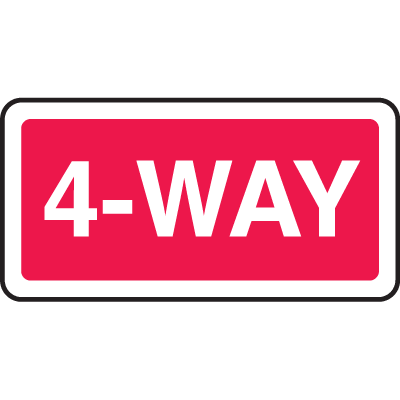 Directional Stop Signs - 4-Way