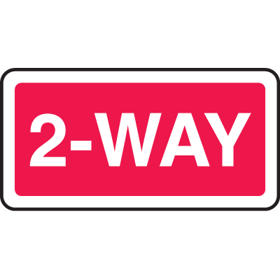 Directional Stop Signs - 2-Way