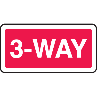 Directional Stop Signs - 3-Way