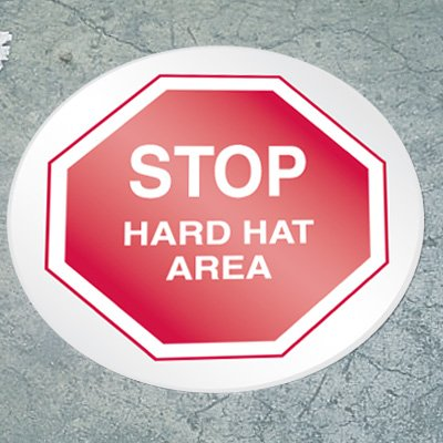 Stop Floor Marker - Hard Hat Area