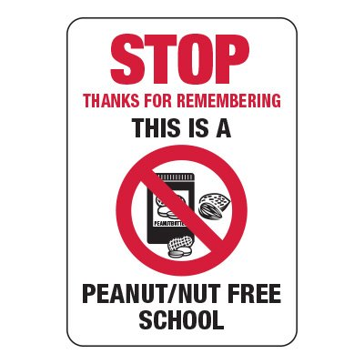 Stop Remember Peanut/Nut Free School - Food Allergy Signs