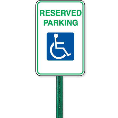 12 x 18 Symbol Of Access Parking Sign Kit - Reserved Parking