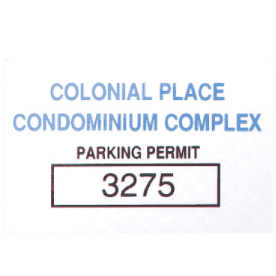 Custom Tamper-Evident Parking Permit Decals