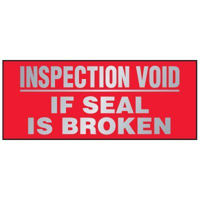 Tamper Evident Void Labels - Inspection Void