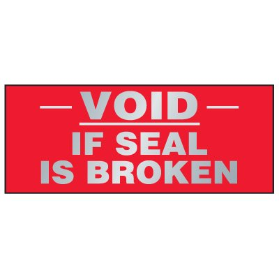 Tamper Evident Void Labels - Void