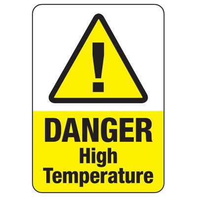 Temperature Warning Signs - Caution High Temperature