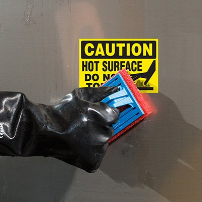 ToughWash® Labels - Caution Hot Surface Do No Touch