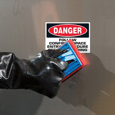 ToughWash® Labels - Danger Confined Space Procedures
