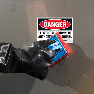 ToughWash® Labels - Danger Electrical Equipment