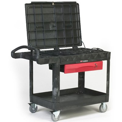 Rubbermaid® Trademaster ® Professional Contractor's Cart 4535-88-BLA