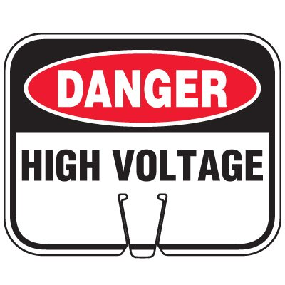 Traffic Cone Signs - Danger High Voltage