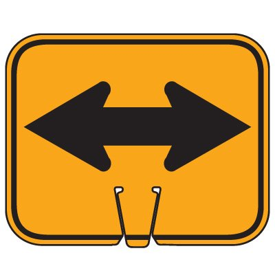 Traffic Cone Signs - Double Arrow