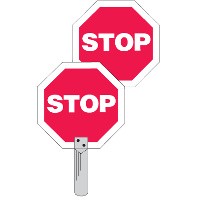 Traffic Paddles - Stop