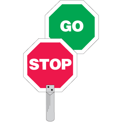Traffic Paddles - Stop/Go