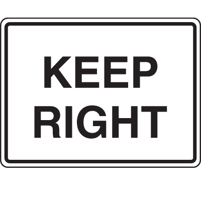 Traffic Signs - Keep Right
