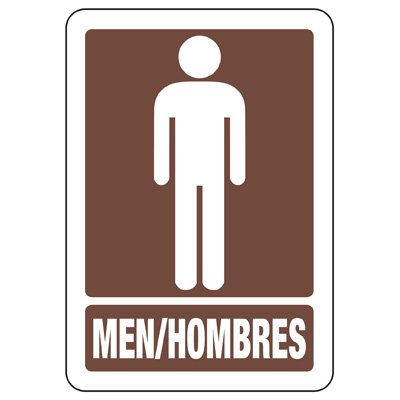 Bilingual Men's Restroom Sign