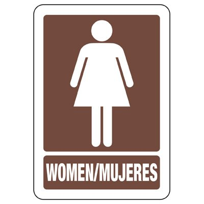 Bilingual Women's Restroom Sign