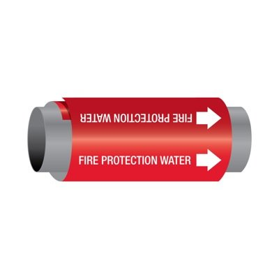Ultra-Mark® Self-Adhesive High Performance Pipe Markers - Fire Protection Water