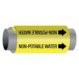 Ultra-Mark® Self-Adhesive High Performance Pipe Markers - Non-Potable Water