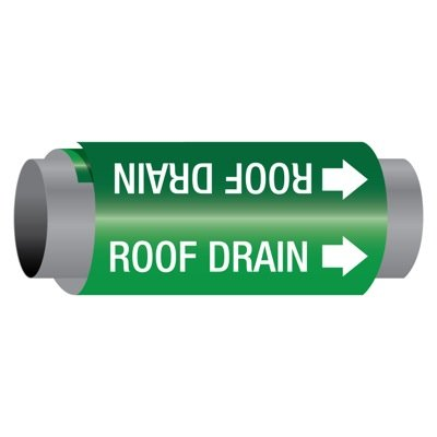 Ultra-Mark® Self-Adhesive High Performance Pipe Markers - Roof Drain
