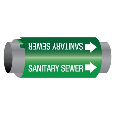 Ultra-Mark® Self-Adhesive High Performance Pipe Markers - Sanitary Sewer