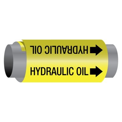Ultra-Mark® Self-Adhesive High Performance Pipe Markers - Hydraulic Oil