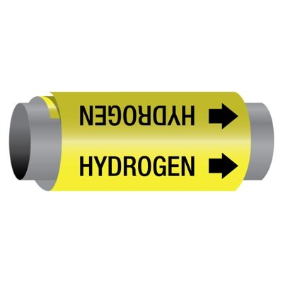 Ultra-Mark® Self-Adhesive High Performance Pipe Markers - Hydrogen
