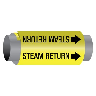 Ultra-Mark® Snelf-Adhesive High Performance Pipe Markers - Steam Return