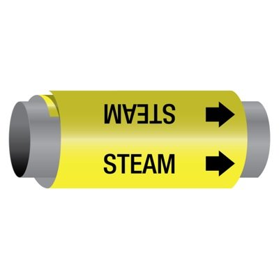 Ultra-Mark® Self-Adhesive High Performance Pipe Markers - Steam