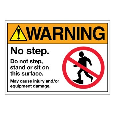 Ultra-Stick Signs - Warning No Step