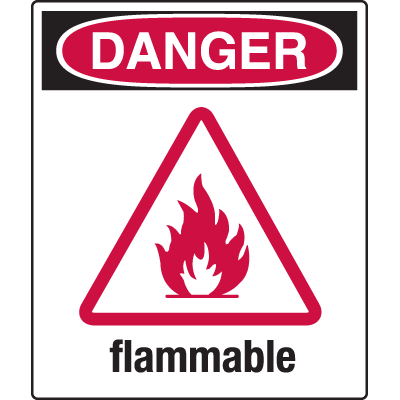 Universal Graphic Signs And Labels - Danger Flammable