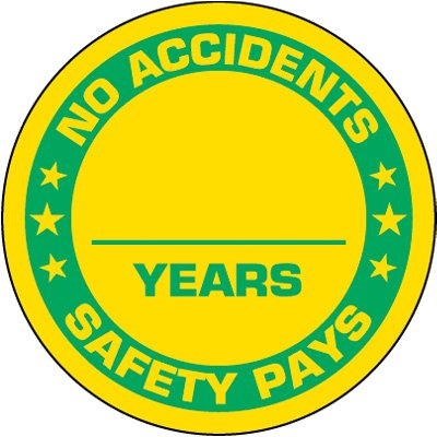 No Accidents Label