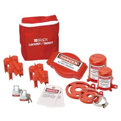 Brady Valve Lockout Pouch Kit With Brady Steel Padlocks & Tags - Part Number - 99681 - 1/Each