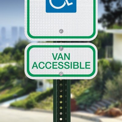 Van Accessible Handicap Parking Signs - Official ADA & Federal Compliant (MUTCD)