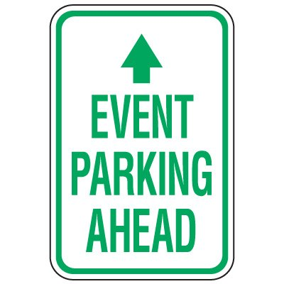 Visitor Parking Signs - Event Parking Ahead