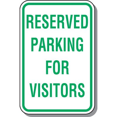 Visitor Parking Signs - Reserved Parking For Visitors