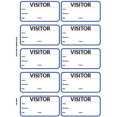 Visitor Pass Registry Book