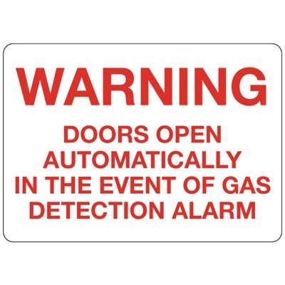 W-3 Custom Warning sign for Gas Detection Alarm - Aluminum